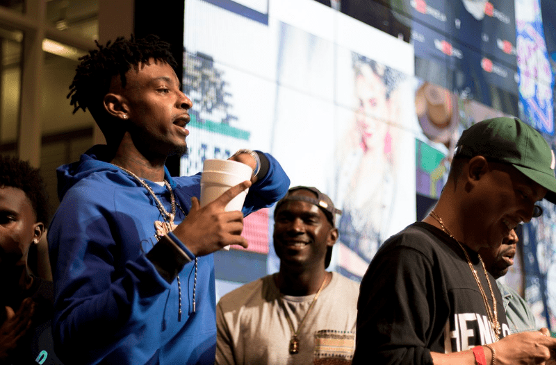 21 Savage's #Issa Album Listening Party At #YouTubeSpaceLA