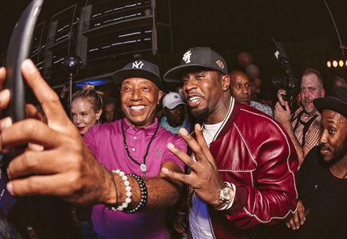 Russell Simmons Celebrates His 60th Birthday With Diddy At His Yoga Studio In LA