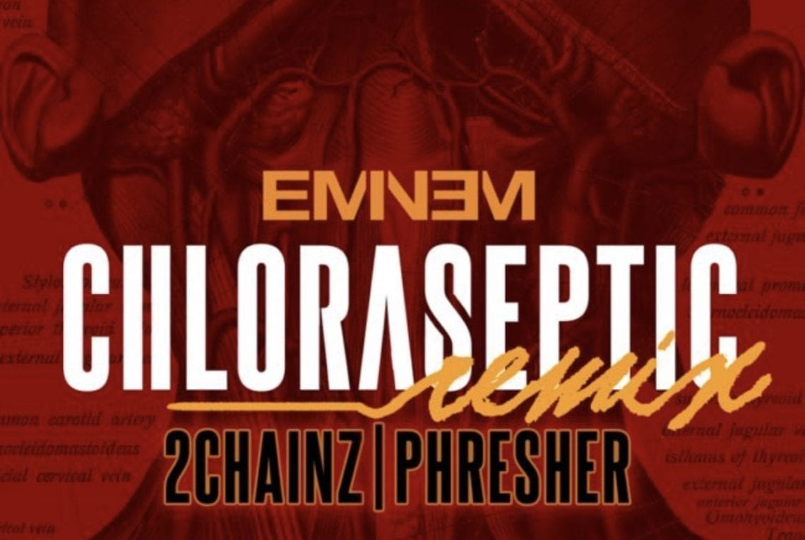 "Eminem Shuts Down The Shade In ""Chloraseptic"" Remix f. 2 Chainz"